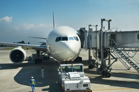 bluesky: Haneda Airport Stock Photo