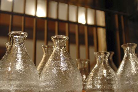 sake: Sake bottle Stock Photo