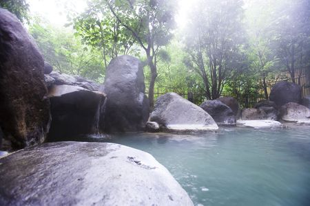 openair: Open-air bath Stock Photo