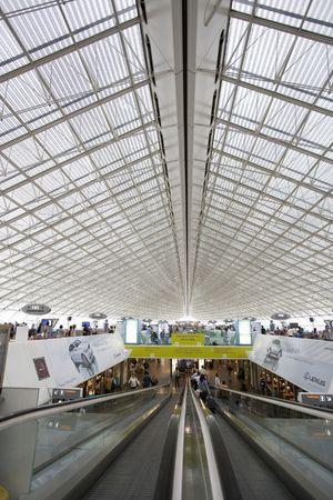 charles de gaulle: Charles de Gaulle International Airport Stock Photo