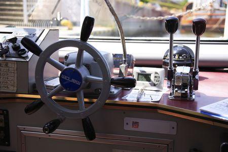 wheelhouse: Pilothouse Stock Photo