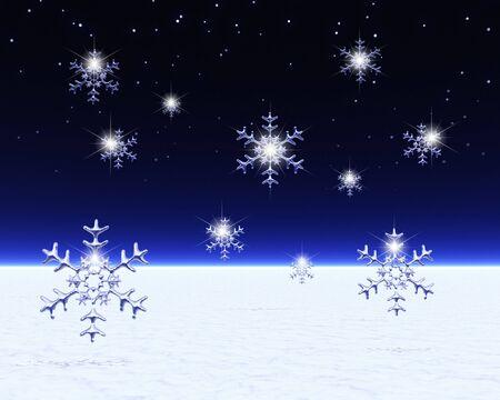 snow crystal: Snow crystal