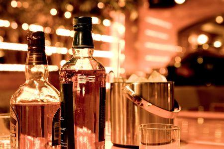 gorgeousness: Whiskey bottles Stock Photo