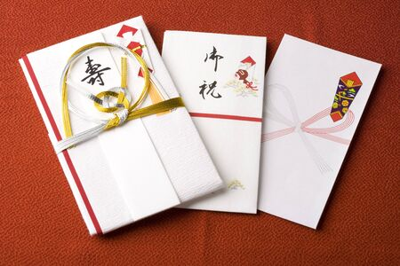 monetary: Special envelope for presenting a monetary gift or a tip Stock Photo
