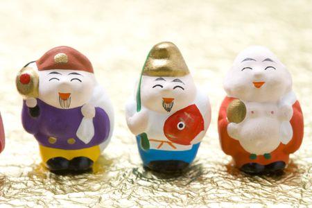 gods: Seven Gods of Good Fortune Stock Photo