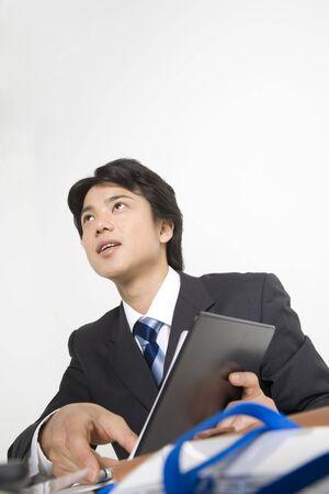 empleado de oficina: Japanese office worker Foto de archivo