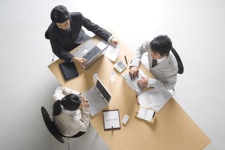 asian laptop: Meeting
