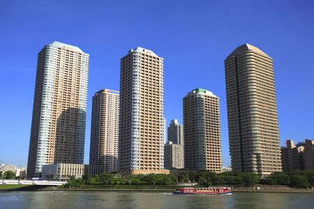 sumida ward: River City Stock Photo
