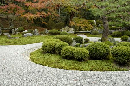 autumn garden: Manshu-in temple garden