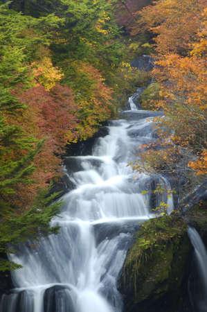 throb: Ryuzuno-taki Waterfall Stock Photo