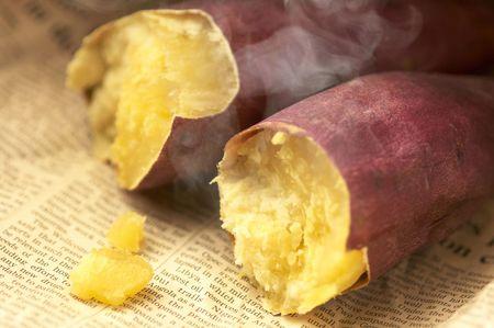 Baked sweet potato 写真素材