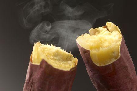 pişmiş: Fırında tatlı patates Stok Fotoğraf