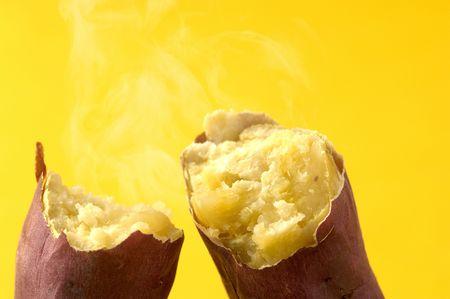 Baked sweet potato Stock Photo