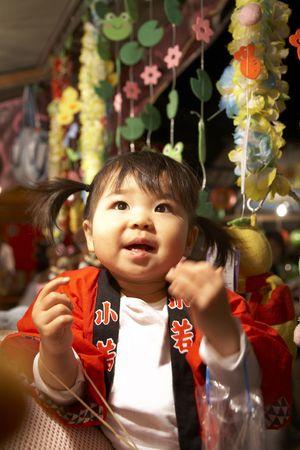 babyhood: Portrait of Japanese child