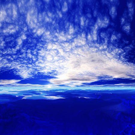 blue  sky: Cielo blu Archivio Fotografico