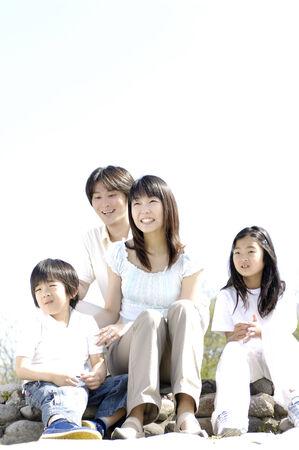 japanese children: Family Stock Photo