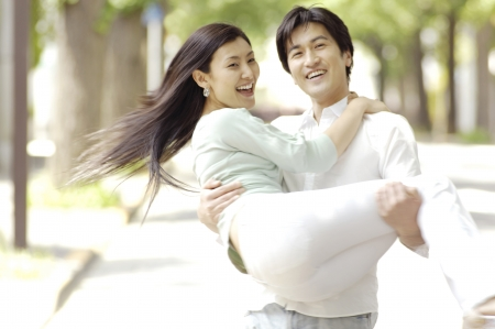 asian couple happy: Japanese couple