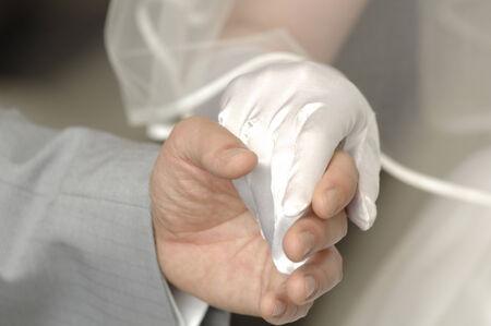 bridal couple: Hand of bridal couple