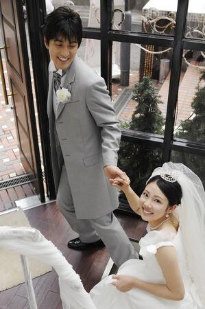 bridal couple: Japanese bridal couple Stock Photo