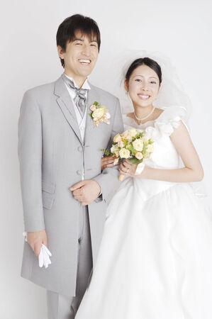 bridal couple: Portrait of bridal couple