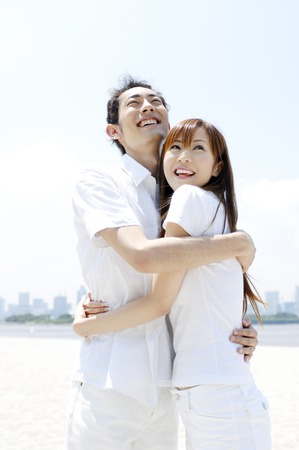 Couple hugging each other 写真素材