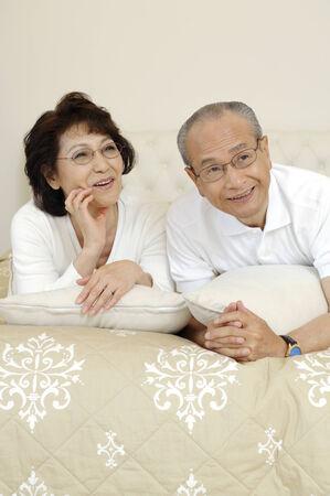 grandad: Relaxing elderly couple