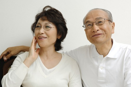 grandad: Elderly couple with good relations