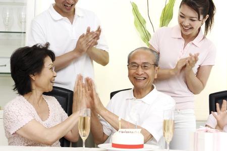 Birthday of grandad 版權商用圖片
