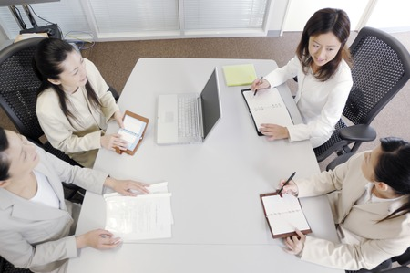 Meeting scene 版權商用圖片