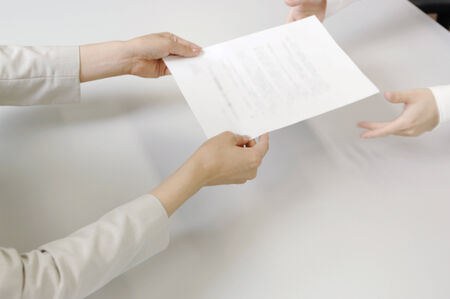 acceptance: Acceptance of the contract Stock Photo