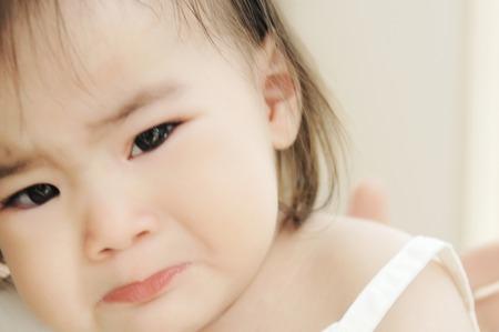 Tearful face