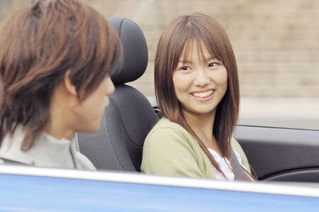Japanese young couple photo