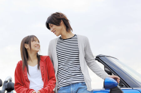 image date: Japanese young couple Stock Photo