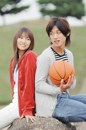 Japanese young couple Stock Photo
