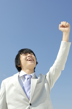 guts: Businessman to take the guts pose