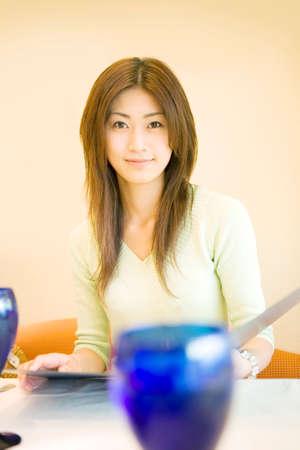 gratification: Female portrait Stock Photo