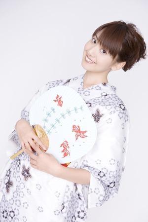 yukata: Japanese girl wearing yukata