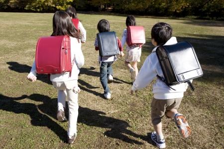 Japanese primary schoolchild photo