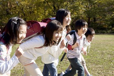 Japanese primary schoolchild Reklamní fotografie - 6194694