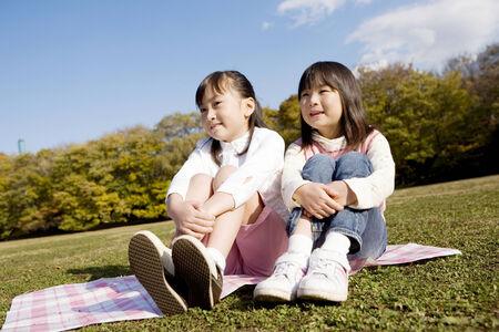 日本の女の子 写真素材