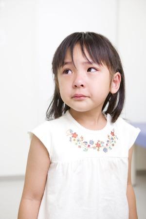 fille pleure: Fille cri