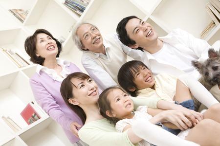 plural number: 3generation family portrait.