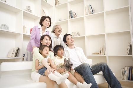 seres vivos: Retrato de familia 3generation.