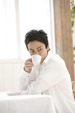 Men drink coffee Stock Photo