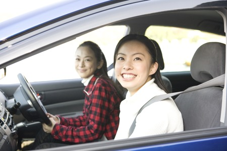 2 women to drive Stock Photo