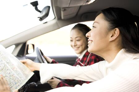 ascertain: 2 women to drive Stock Photo