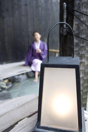 openair: Open-air bath image Stock Photo