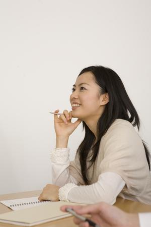 culture school: Take a class woman of Culture School Stock Photo