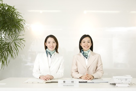 Receptionist two companies