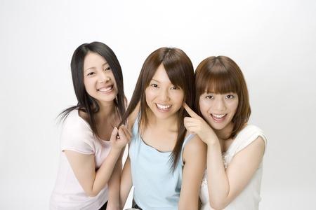 Three beautiful Japanese womens portrait